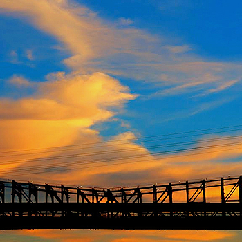 Bridge & sky | LENS MODEL NOT SET <br> Click image for more details, Click <b>X</b> on top right of image to close