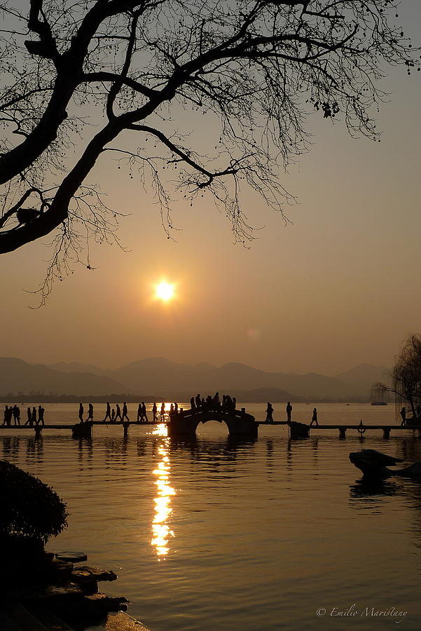 West Lake Sunset | LENS MODEL NOT SET <br> Click image for more details, Click <b>X</b> on top right of image to close