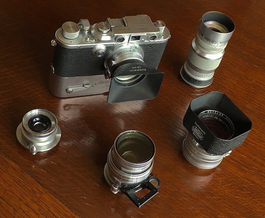 Leica IIIb plus bits | LENS MODEL NOT SET <br> Click image for more details, Click <b>X</b> on top right of image to close