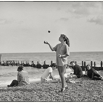 Girl juggling on the beach | LEICA SUMMICRON 50MM F2 <br> Click image for more details, Click <b>X</b> on top right of image to close