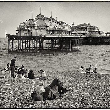 West Pier, Brighton | LEICA SUMMILUX 35MM F1.4 <br> Click image for more details, Click <b>X</b> on top right of image to close