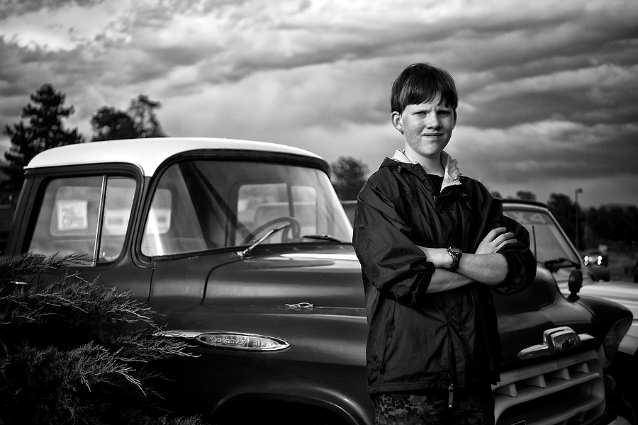 Young Man and an Old Truck | LEICA SUMMICRON 35MM F2 <br> Click image for more details, Click <b>X</b> on top right of image to close