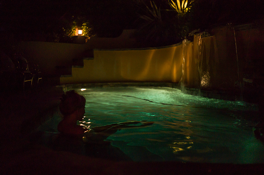 D In The Pool @ Night | CANON LTM 35MM F2 <br> Click image for more details, Click <b>X</b> on top right of image to close