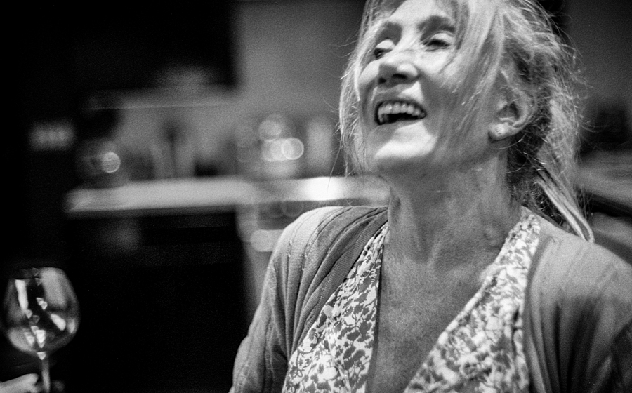 Diane Laughing | CANON LTM 35MM F2 <br> Click image for more details, Click <b>X</b> on top right of image to close