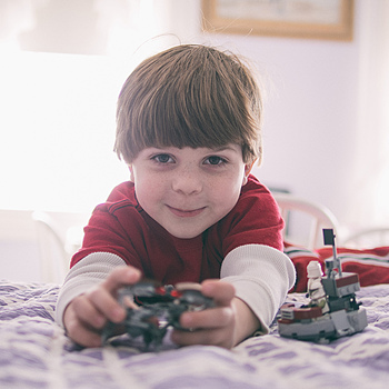 Happiness is a boy and his legos | DG SUMMILUX 25MM/F1.4 ASPH