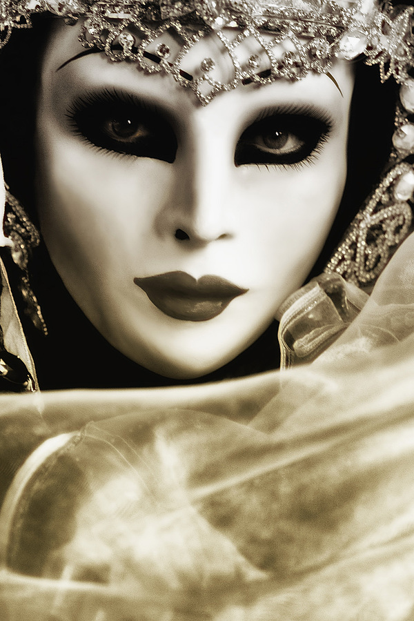 Woman Under Mask | LENS MODEL NOT SET <br> Click image for more details, Click <b>X</b> on top right of image to close