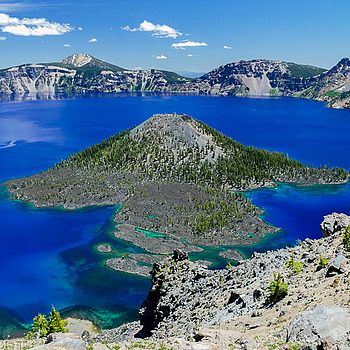 Wizard Island at Crater Lake, Oregon | LENS MODEL NOT SET <br> Click image for more details, Click <b>X</b> on top right of image to close