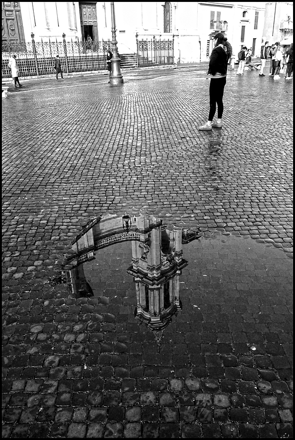The reflections of Piazza Navona after a rainy night | LENS MODEL NOT SET <br> Click image for more details, Click <b>X</b> on top right of image to close