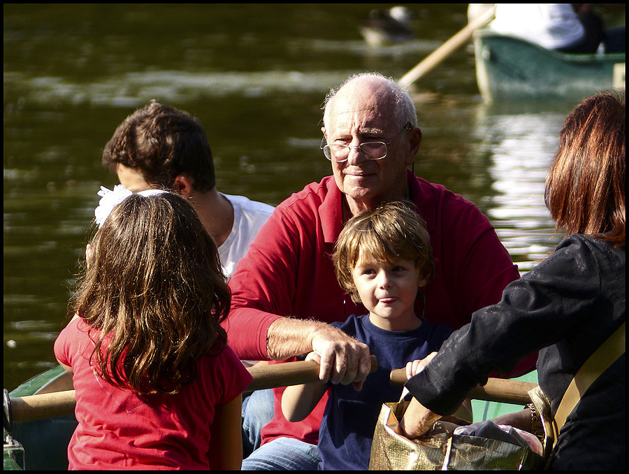 A Sunday at the park: by boat with his grandfather | DC VARIO-ELMARIT 1:2.8/4.5-108 ASPH <br> Click image for more details, Click <b>X</b> on top right of image to close