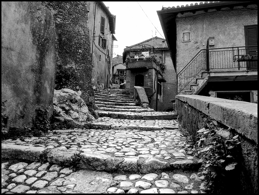 On the stairs of the main street of the ancient Artena | DC VARIO-ELMARIT 1:2.8/4.5-108 ASPH <br> Click image for more details, Click <b>X</b> on top right of image to close