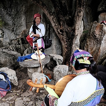 Shilin: in the stone forest: Sani ethnic group | LENS MODEL NOT SET <br> Click image for more details, Click <b>X</b> on top right of image to close
