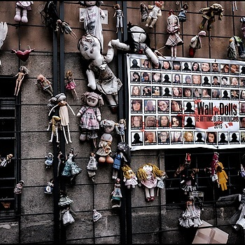 The Wall of Dolls | LENS MODEL NOT SET <br> Click image for more details, Click <b>X</b> on top right of image to close