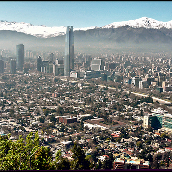 Skyline of Santiago del Chile | LENS MODEL NOT SET <br> Click image for more details, Click <b>X</b> on top right of image to close
