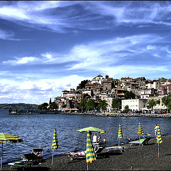 On the beach of Lake Bracciano in Manziana | LENS MODEL NOT SET <br> Click image for more details, Click <b>X</b> on top right of image to close