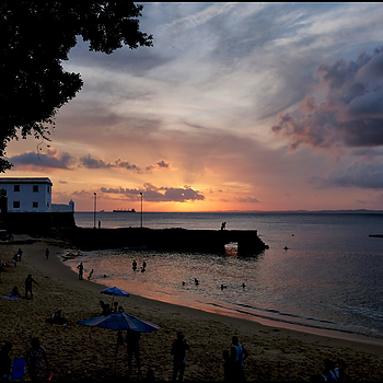 Salvador da Bahia: sunset on the fortress Santa Maria | DC VARIO-ELMARIT 1:2.8/4.5-108 ASPH <br> Click image for more details, Click <b>X</b> on top right of image to close