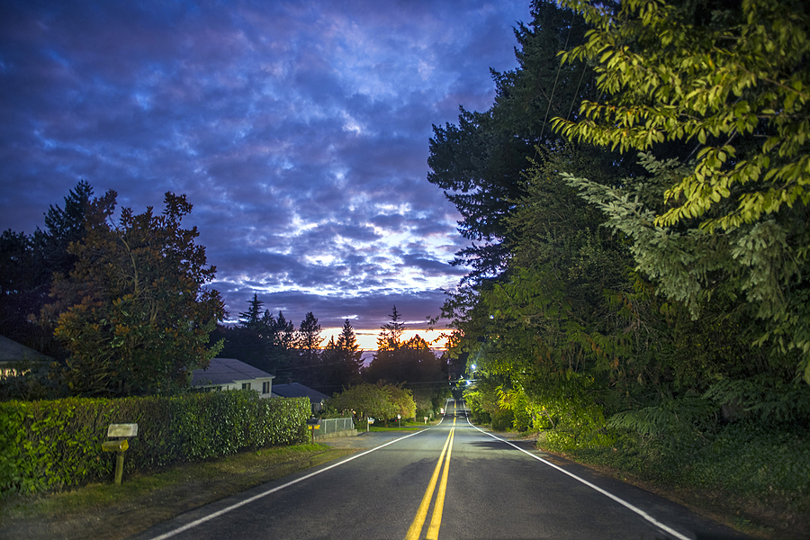 My street at sunset | LEICA SUMMILUX 21MM F1.4 ASPH <br> Click image for more details, Click <b>X</b> on top right of image to close
