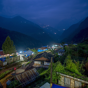 Blue hour Nepal | ZEISS ZM BIOGON T* F2.8 21MM <br> Click image for more details, Click <b>X</b> on top right of image to close