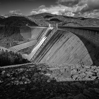 Shasta Dam and clouds | ZEISS ZM BIOGON T* F2.8 28MM <br> Click image for more details, Click <b>X</b> on top right of image to close