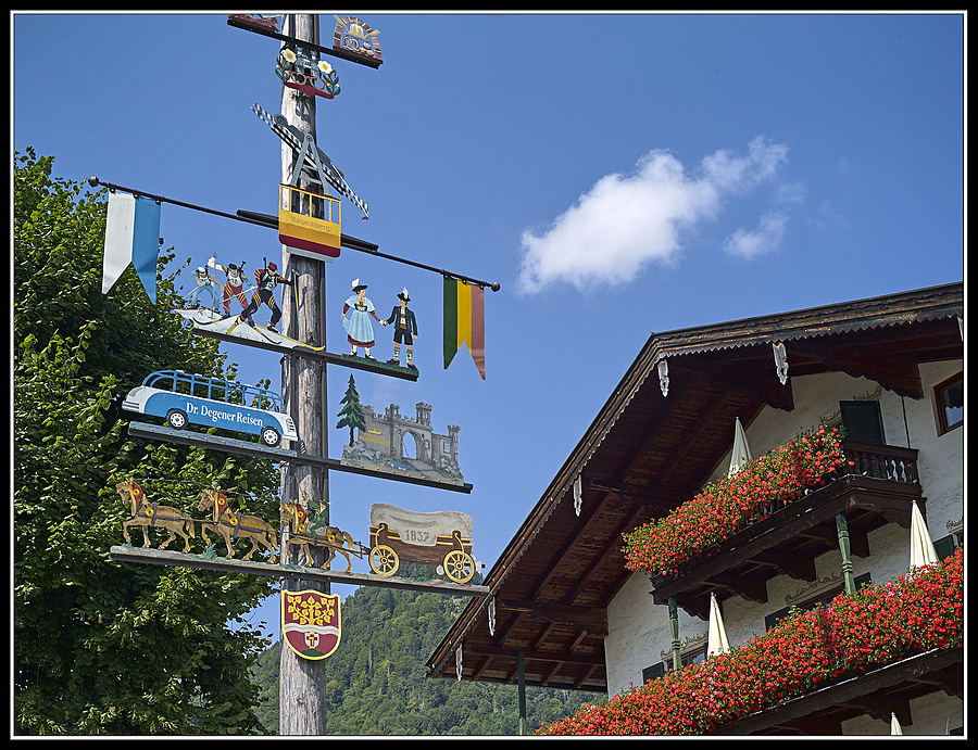 "L1004305 . Berchtesgadener Land, Ruhpolding,  ""Maibaum"" 