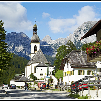"L1004690  Church ""St. Sebastian""  Ramsau near Berchtesgaden/Bavaria 