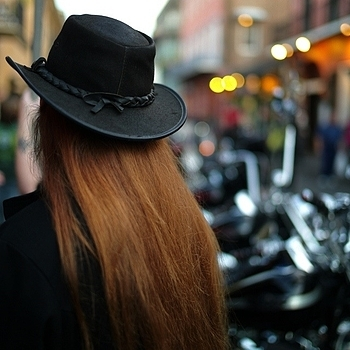 Perfect biker hair - New Orleans | LEICA SUMMILUX 35MM F1.4 ASPH
