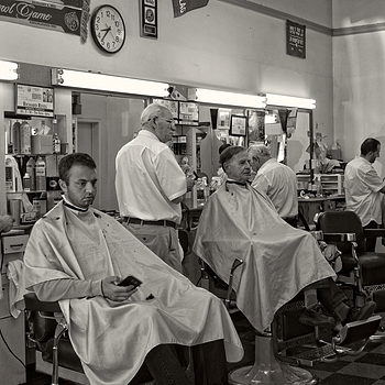 At the Barber | LENS MODEL NOT SET
