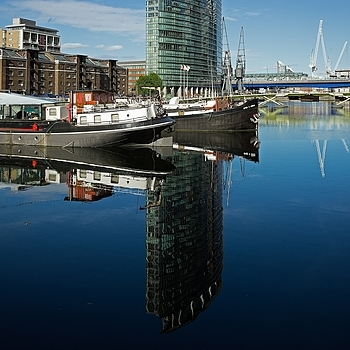 West India Quay Moorings #2 | LEICA ELMARIT 28MM F2.8 ASPH <br> Click image for more details, Click <b>X</b> on top right of image to close