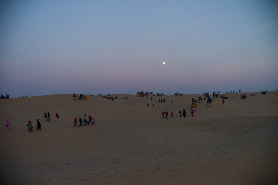 Moonrise on the Sam, Jaisalmer, India | ZEISS ZM BIOGON T* F2.0 35MM <br> Click image for more details, Click <b>X</b> on top right of image to close