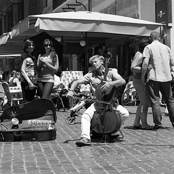 Street Musician | LENS MODEL NOT SET <br> Click image for more details, Click <b>X</b> on top right of image to close