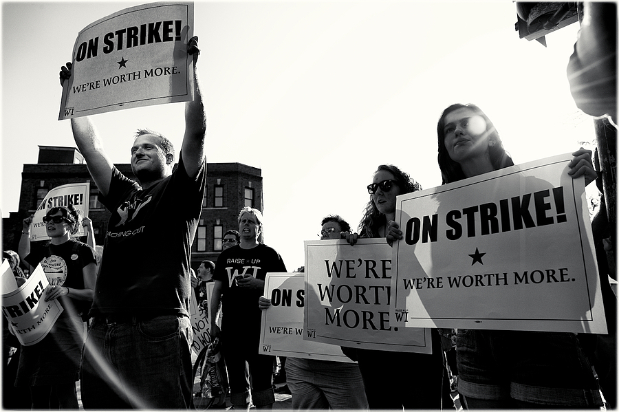 On Strike | We're Worth More | LEICA SUMMILUX 24MM F1.4 ASPH <br> Click image for more details, Click <b>X</b> on top right of image to close