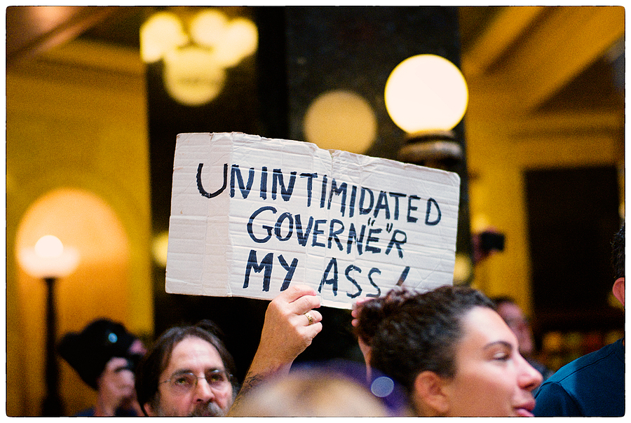 "Solidarity-Sing-Along: ""Unintimidated Govern""e""r My Ass!"" 