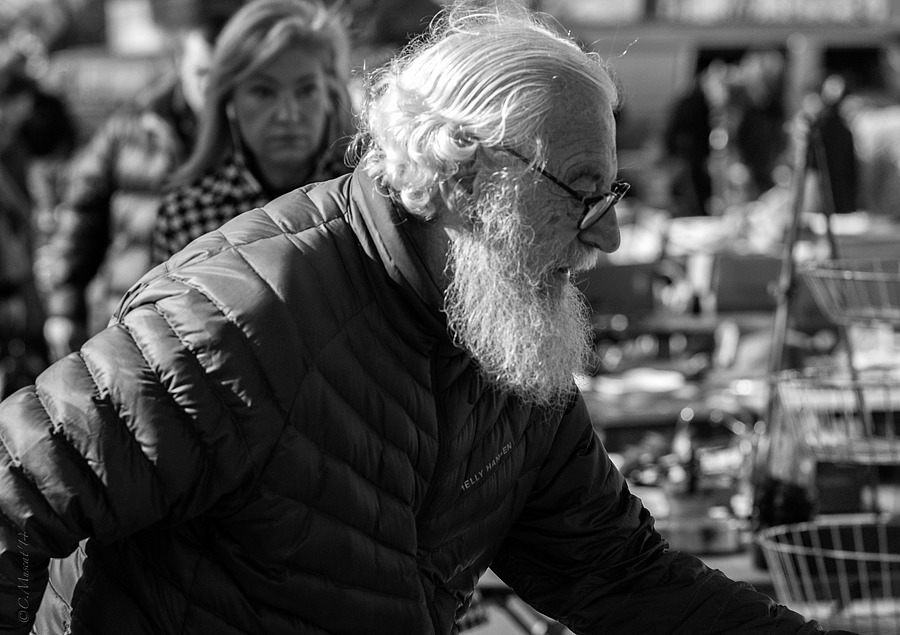 White Beard. | LEICA TELE-ELMAR 135MM F/4 <br> Click image for more details, Click <b>X</b> on top right of image to close
