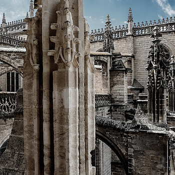 Cathedral Exterior, Seville Spain | LENS MODEL NOT SET <br> Click image for more details, Click <b>X</b> on top right of image to close