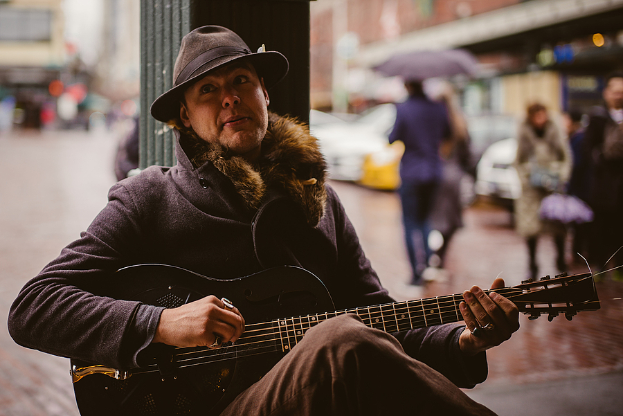 Busking on a Rainy Day | SUMMILUX-M 1:1.4/50 ASPH <br> Click image for more details, Click <b>X</b> on top right of image to close