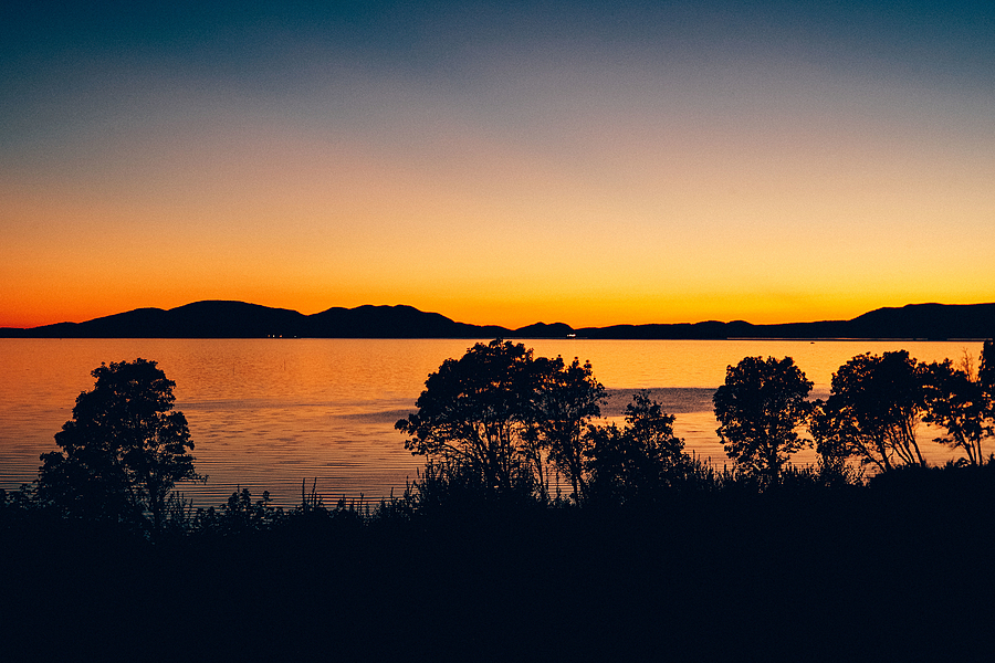 The Color  After Sunset Over Samish Bay | LEICA SUMMITAR 50MM F/2 <br> Click image for more details, Click <b>X</b> on top right of image to close