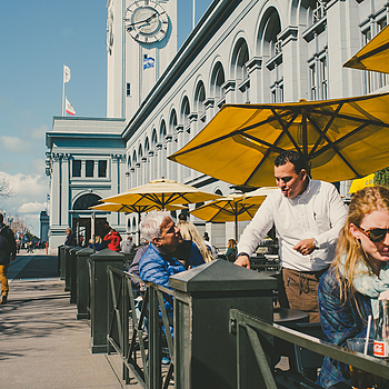 Lunchtime Crowd at the SF Ferry Building | LEICA ELMARIT 28MM F2.8 ASPH <br> Click image for more details, Click <b>X</b> on top right of image to close