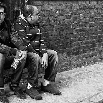 Just Two Guys | LEICA 35MM F/2.0 SUMMICRON 2ND VERSION 1976