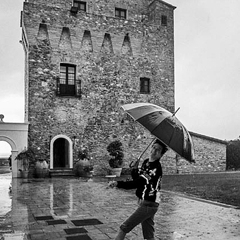 Dana Dancing in the Calabrian Rain, Citadella Del Capo Calabria, Italy | DC-VARIO-SUMMILUX 4.7–17.7MM F/1.4–2.3 <br> Click image for more details, Click <b>X</b> on top right of image to close