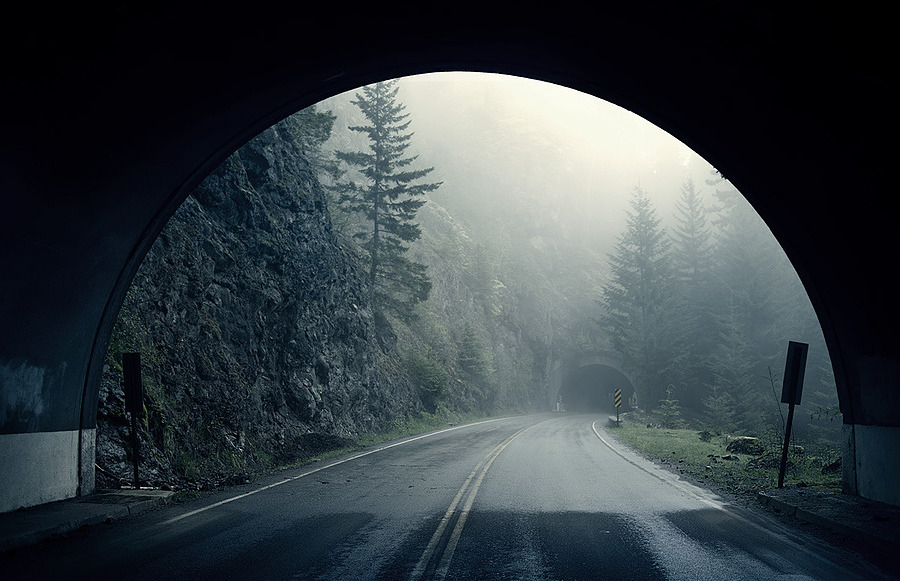 Olympic Peninsula Tunnel | LENS MODEL NOT SET <br> Click image for more details, Click <b>X</b> on top right of image to close