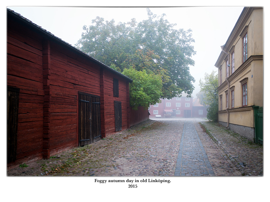 Foggy autumn day in old Linköping. | LEICA ELMARIT 28MM F2.8 ASPH <br> Click image for more details, Click <b>X</b> on top right of image to close