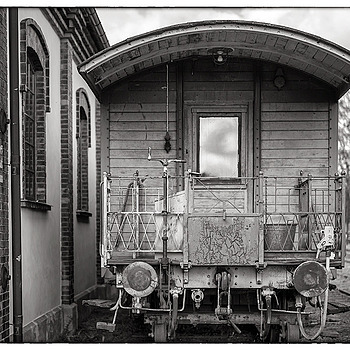 Railway wagon from the old time.