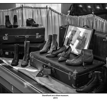 Storefront on a shoe museum. | SUMMILUX-M 1:1.4/50 ASPH <br> Click image for more details, Click <b>X</b> on top right of image to close