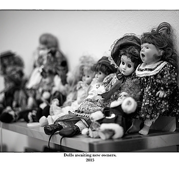 Dolls awaiting new owners. | SUMMILUX-M 1:1.4/50 ASPH <br> Click image for more details, Click <b>X</b> on top right of image to close