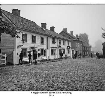 A foggy autumn day in old Linköping. | LEICA ELMARIT 28MM F2.8 ASPH <br> Click image for more details, Click <b>X</b> on top right of image to close