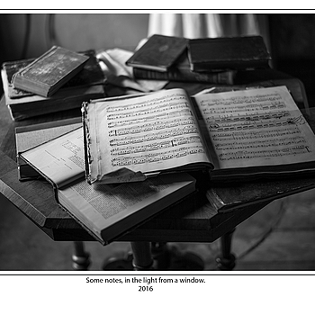 Some notes, in the light from a window. | SUMMILUX-M 1:1.4/50 ASPH