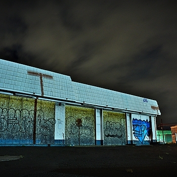 abandoned building at night | LEICA 21MM SUPER-ELMAR-M F/ 3.4 ASPH LENS <br> Click image for more details, Click <b>X</b> on top right of image to close