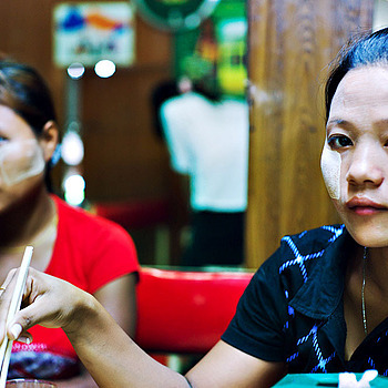 Myanmar sisters bogyoke market | LENS MODEL NOT SET