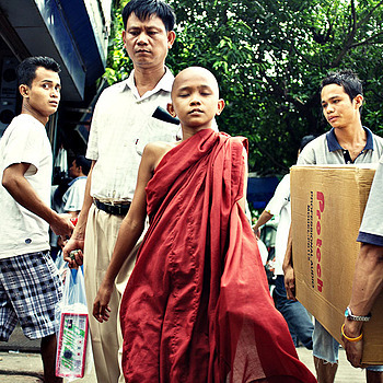 Young monk Yangon | LENS MODEL NOT SET