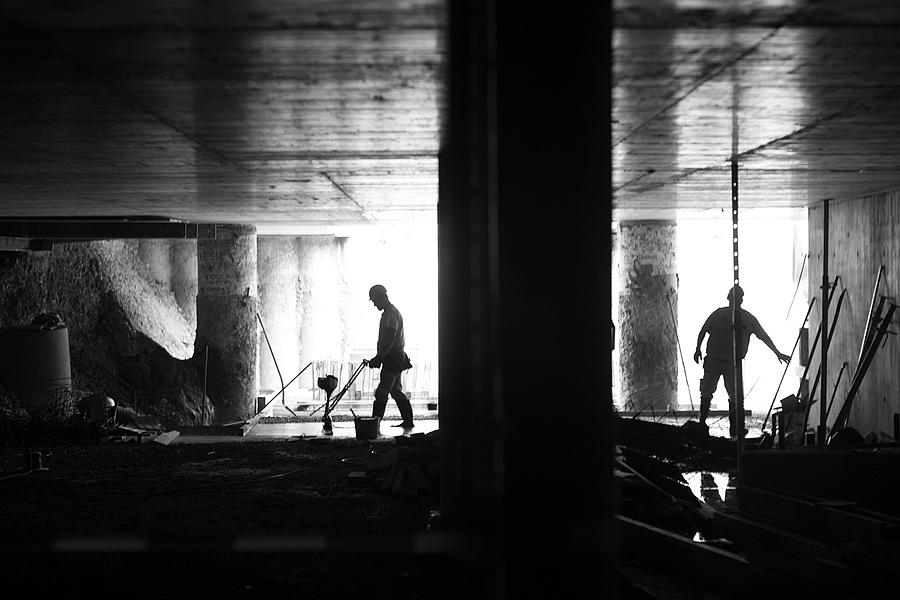 Putting concrete in the underground parking | LEICA 80MM F/1.4 SUMMILUX <br> Click image for more details, Click <b>X</b> on top right of image to close