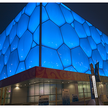 Beijing Olympic 2008 - National Aquatics Center (Water Cube) | LEICA TRI-ELMAR 16-18-21MM F4 ASPH <br> Click image for more details, Click <b>X</b> on top right of image to close